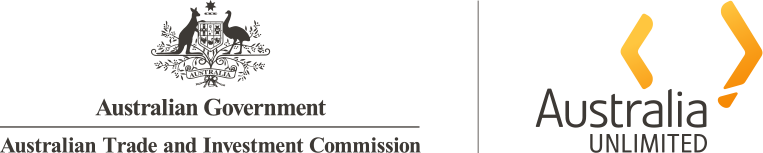 Logo for Australia Unlimited and Australian Government